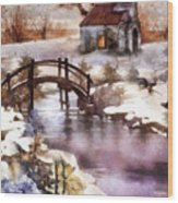 Winter Shelter Wood Print