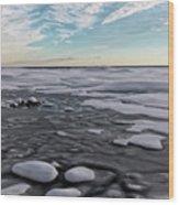 Winter Shoreline Wood Print