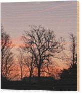 Winter Skies Wood Print