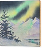 Winter Skylights Wood Print