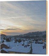 Winter Snow In Happy Valley Oregon Wood Print