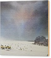 Winter Snow Swaledale Wood Print