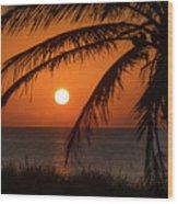 Winter Solstice Sunrise 2 Delray Beach, Florida Wood Print
