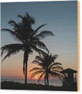 Winter Solstice Sunrise Delray Beach Florida Wood Print