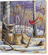 Winter Song Wood Print