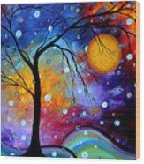 Winter Sparkle By Madart Wood Print by Megan Duncanson
