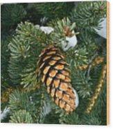Winter Spruce Wood Print