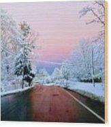 Winter St Wood Print