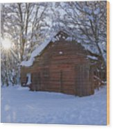 Winter Stable Wood Print