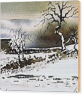 Winter Stainland Wood Print