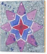 Winter Star Wood Print