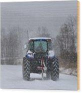 Winter Storm Jonas Wood Print