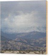 Winter Storm On Desert Mountain Wood Print