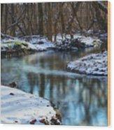 Winter Stream, Pa Wood Print