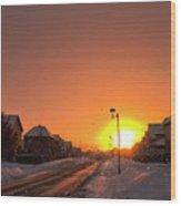 Winter Sun Glow Wood Print