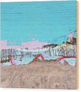 The Beach In Winter  Wood Print