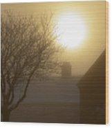 Winter Sun Wood Print by Svetlana Sewell