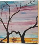 Winter Sunrise                    74 Wood Print