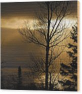 Winter Sunrise 1 Wood Print