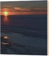 Winter Sunrise At Lake Simcoe  Wood Print