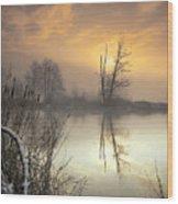 Winter Sunrise Wood Print by Graham Clark