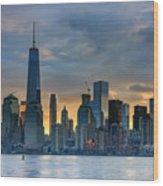 Winter Sunrise New York City Wood Print
