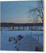 Winter Sunrise On Demond Pond Wood Print