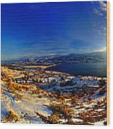Winter Sunrise On Skaha Wood Print