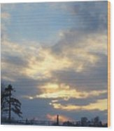 Winter Sunset - Lambton County Wood Print