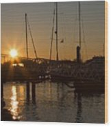 Winter Sunset At Annapolis Harbour Wood Print