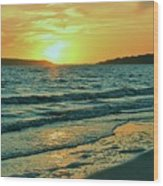 Winter Sunset At Wellfleet Harbor Wood Print