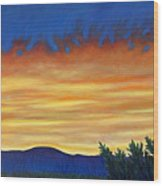 Winter Sunset In El Dorado Wood Print