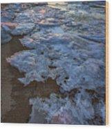 Winter Sunset On Fire Island Wood Print