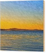 Winter Sunset Over Ipswich Bay Wood Print