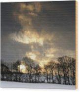 Winter Sunset, Trough Of Bowland, England Wood Print