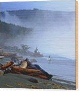 Winter Surf On Vancouver Island Wood Print