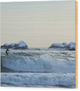 Winter Surfing 2 Wood Print