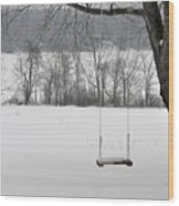Winter Swing Wood Print