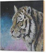 Winter Tiger Wood Print