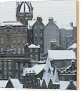 Winter Townscape Scotland Wood Print