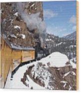 Winter Train Durango Silverton Colorado Wood Print