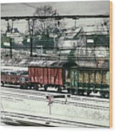 Winter Transport Wood Print