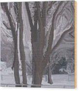 Winter Trees Wood Print