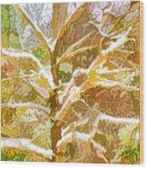Winter Trees On Snow 2 Wood Print