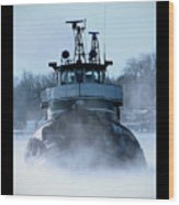 Winter Tug Wood Print