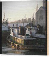 Winter Tugs Wood Print