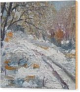 Winter I Wood Print