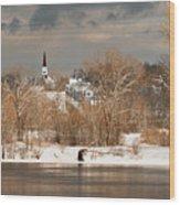 Winter View Of Allenstown Wood Print