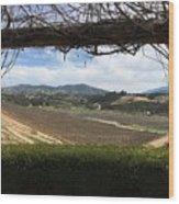 Winter Vines Wood Print