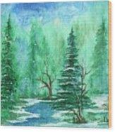 Winter Walk A  Wood Print